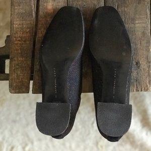 Zara Shoes - ZARA - Glitter Block Heel Boots